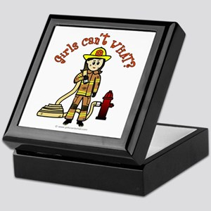 Personalized Firefighter Keepsake Box
