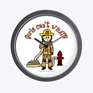 Personalized Firefighter Wall Clock