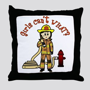 Personalized Firefighter Throw Pillow