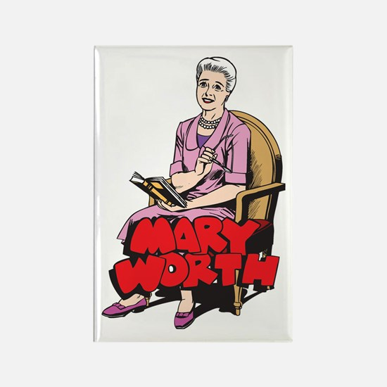 Mary Reading Rectangle Magnet