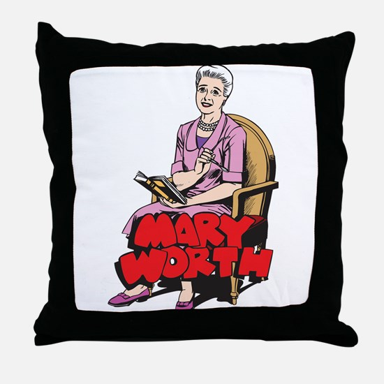 Mary Reading Throw Pillow