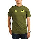 Halloween Cat's Eye Organic Men's T-Shirt (dark)