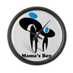Mama's Boy Large Wall Clock