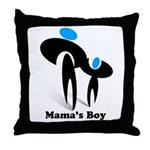 Mama's Boy Throw Pillow
