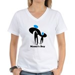 Mama's Boy Women's V-Neck T-Shirt