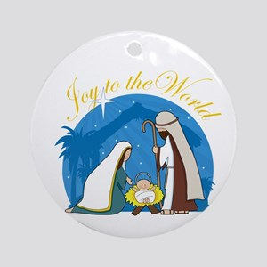 Nativity Scene Ornament (Round)