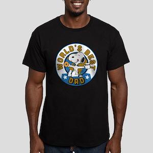 Peanuts Greatest Dad Men's Fitted T-Shirt (dark)