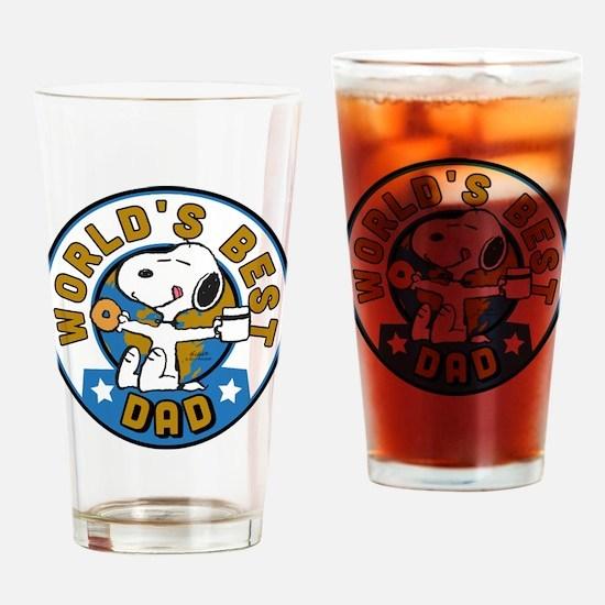 Peanuts Greatest Dad Drinking Glass
