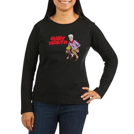 Mary Gardening Women's Long Sleeve Dark T-Shirt