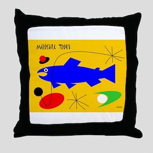 Miro Trout Throw Pillow