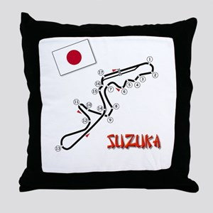 Suzuka Throw Pillow