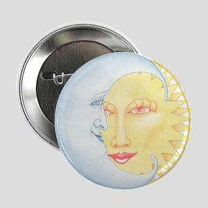 """Moon & Sun Smiles 2.25"""" Button"""