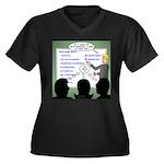 Drug Naming Women's Plus Size V-Neck Dark T-Shirt