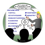 Drug Naming Session Round Car Magnet