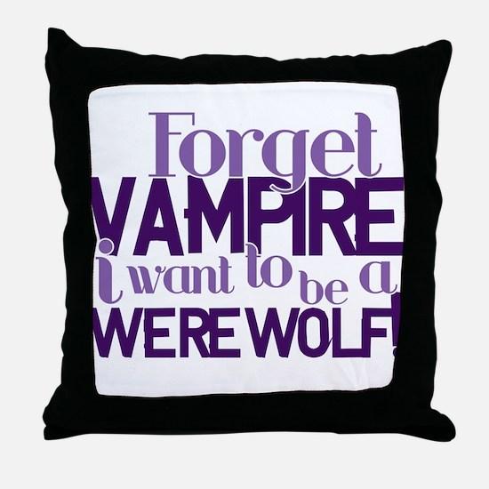 NEW MOON WEREWOLF! Throw Pillow