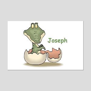 Joseph - Baby Alligator Mini Poster Print