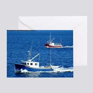 Two fishing boats Greeting Card