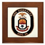 USS Gonzalez DDG 66 US Navy Ship Framed Tile