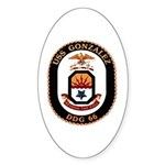 USS Gonzalez DDG 66 US Navy Ship Sticker (Oval 10