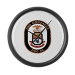 USS Gonzalez DDG 66 US Navy Ship Large Wall Clock
