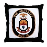 USS Gonzalez DDG 66 US Navy Ship Throw Pillow