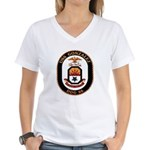 USS Gonzalez DDG 66 US Navy Ship Women's V-Neck T-