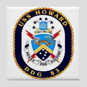 USS Howard DDG 83 US Navy Ship Tile Coaster