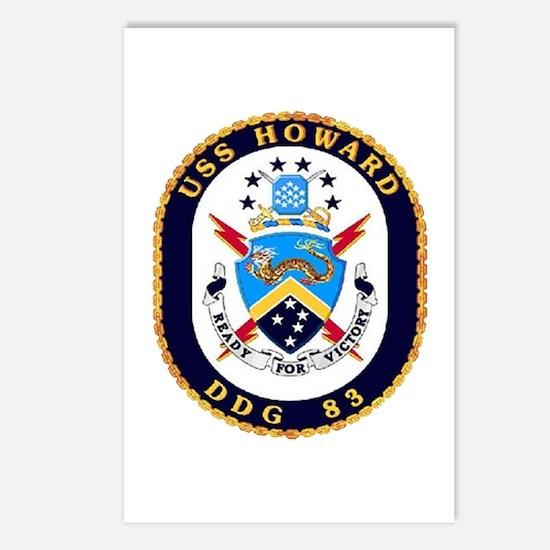 USS Howard DDG 83 US Navy Ship Postcards (Package