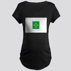 Brasilia Flag Maternity Dark T-Shirt