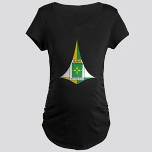 Brasilia Coat Of Arms Maternity Dark T-Shirt