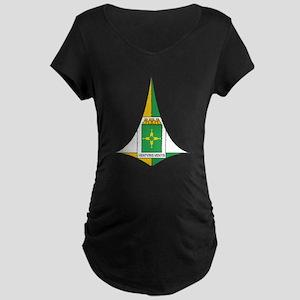 Brasilia Coat Of Arms Maternity Dark T-Shirt
