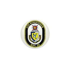 USS Kingfisher MHC 56 US Navy Ship Mini Button