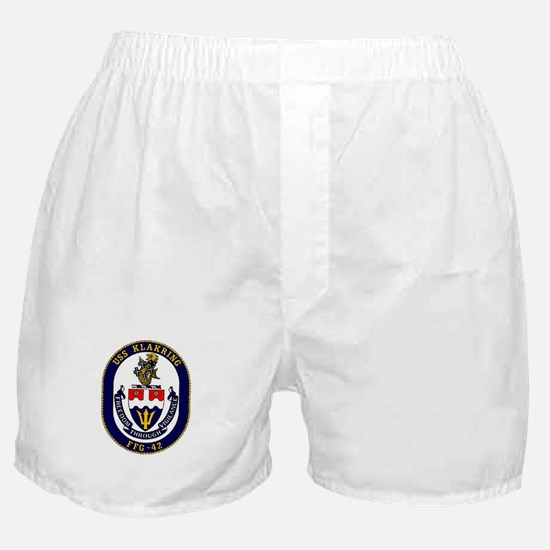 USS Klakring FFG 42 US Navy Ship Boxer Shorts