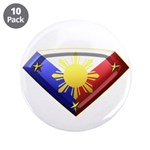 """Super Pinoy 3.5"""" Button (10 pack)"""