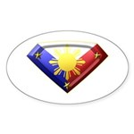 Super Pinoy Oval Sticker (50 pk)
