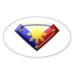 Super Pinoy Oval Sticker (10 pk)