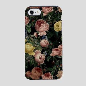 Vintage rose garden at night iPhone 7 Tough Case