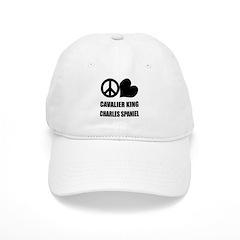 Peace Love King Charles Spaniel Baseball Cap