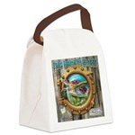Tails From The Harbor Canvas Lunch Bag