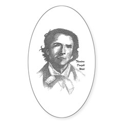 Theodore Dwight Weld Oval Decal