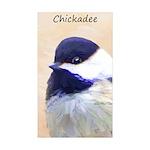 Chickadee Sticker (Rectangle 50 pk)