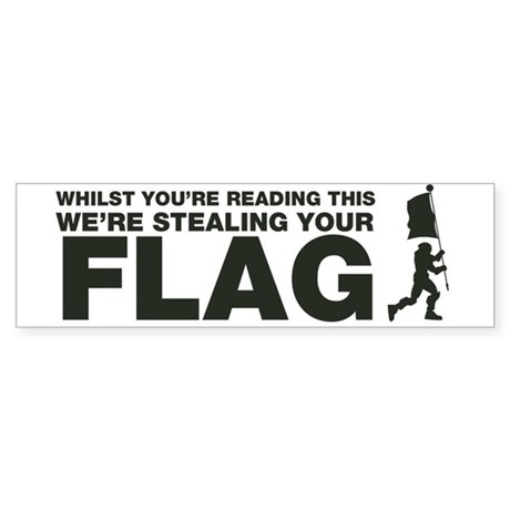 Capture The Flag Bumper Sticker