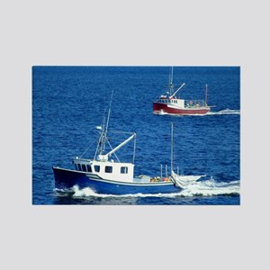 Two fishing boats Rectangle Magnet