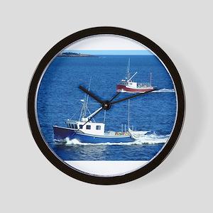 Two fishing boats Wall Clock