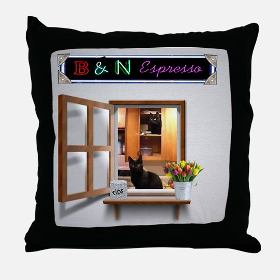 Cute Window sill Throw Pillow
