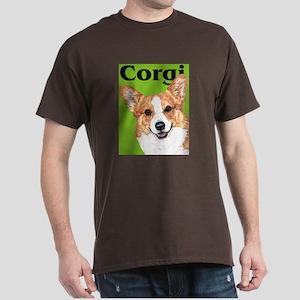 Green Pop Pembroke Welsh Corgi Dark T-Shirt