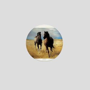 Yantis Mustangs Mini Button