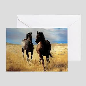 Yantis Mustangs Greeting Card