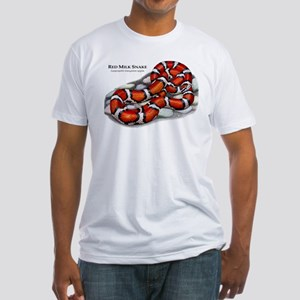 Red Milk Snake Fitted T-Shirt