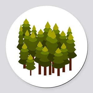FOREST Round Car Magnet